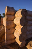 Corner of blockhouse from logs Stock Image