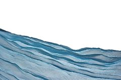 Corner Blue Aqua Water Wavy Fabric Textured Background Stock Photo