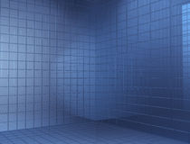 Corner of the blue cube Royalty Free Stock Photos