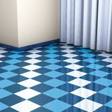Corner blue and white tiles Stock Images