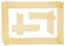 Corner and border from masking tape. Corner and border from painter masking tape on white Royalty Free Stock Image