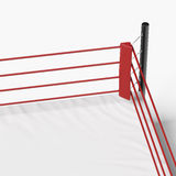 Corner of the boxing ring. Isolated on a white background Stock Photo