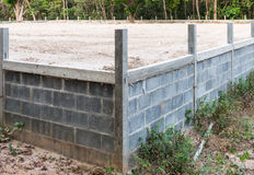 The corner of brick fence Stock Photo