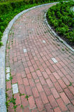 Corner brick road Royalty Free Stock Images