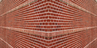 Corner of a brick wall royalty free stock photo