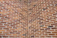 Corner in brick wall Stock Photos