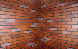 Corner of brick wall Royalty Free Stock Photo