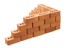 Corner of a brick wall Stock Images