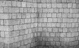 Corner brick wall. Corner wall of bricks, construction Royalty Free Stock Photo