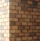 The corner of a brick wall Stock Image
