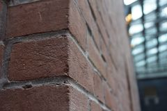 The corner of a brick wall Royalty Free Stock Photos