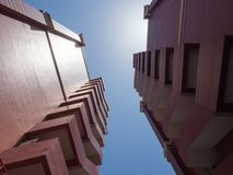 Corner of the brown twin Apartment Building. Stock Images