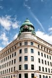 Corner building on Albertina square in Vienna Stock Image
