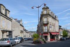 Corner building in Brive-la-Gaillarde, France Royalty Free Stock Photography