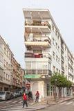 Corner building in Estepona, Spain Royalty Free Stock Photos