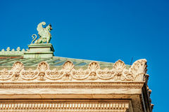 Gargoyle on Rooftop Royalty Free Stock Photography