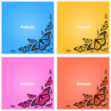 Corner of butterflies Stock Photography