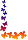 Corner butterflies nature clip art frame Stock Images