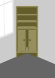 Corner cabinet. Stock Photo
