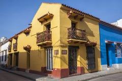 Corner of Cartagena de Indias Stock Photography