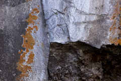 Corner of Cave Entrance With Colorful Lichen Plants Royalty Free Stock Photo