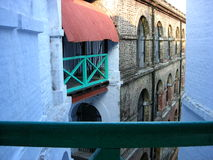 A corner in cellular jail. An image showing a corner of Cellular Jail premises, Port Blair(india). Cellular Jail is a national monument now, having great history Royalty Free Stock Photo