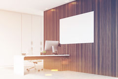 Corner of CEO office with horizontal poster, toned Royalty Free Stock Images