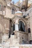 Corner chapel of the Church of the Holy Sepulchre in  the old city of Jerusalem, Israel. Stock Photo