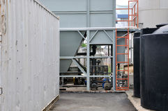 A corner of a chemical plant Royalty Free Stock Photo