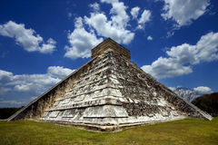 Corner  of chichen itza temple Stock Photography