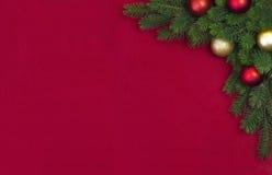 Corner Christmas fir branch Stock Images