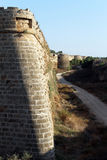 Corner of city wall in Famagusta. North Cyprus Royalty Free Stock Photo