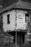 Corner of clay earthen abandoned house royalty free stock photos
