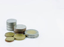 Corner coins Royalty Free Stock Images