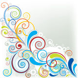 Corner color design Stock Images