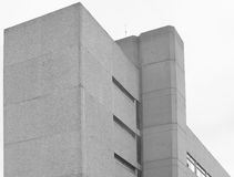 Corner - concrete building. Generic 1960s concrete building with textured panels Royalty Free Stock Image