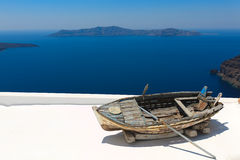 A corner with damged boat Royalty Free Stock Photos
