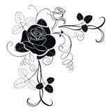 Corner decoration - rose Stock Images