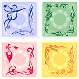 Corner Design - vector set. Royalty Free Stock Photos