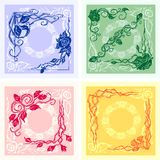 Corner Design - vector set. Royalty Free Stock Photo