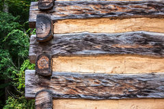 Corner Detail of Log Cabin Stock Image