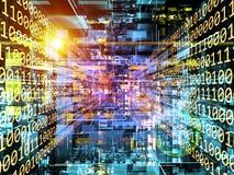 Corner of Digital Universe Stock Image
