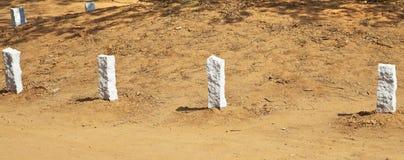 Corner edging stones at Auroville Royalty Free Stock Photos