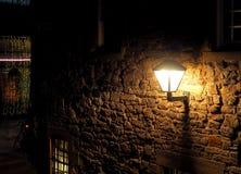 A corner from Edinburgh. A climatically lit stone building on a street in Edinburgh Stock Photography