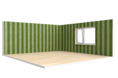 Corner of  empty room with  floor, wall and window Stock Photography