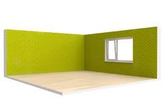 Corner of  empty room with  floor, wall and window Stock Image