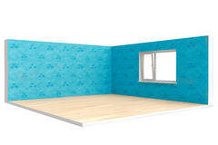Corner of  empty room with  floor, wall and window Stock Image