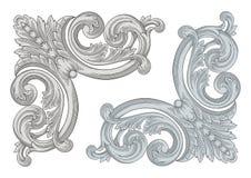 Corner Engraving Royalty Free Stock Photography