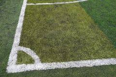 Corner of fake soccer Royalty Free Stock Image