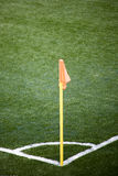 Corner Flag. Photo Of A Soccer Empty Field Corner Royalty Free Stock Images